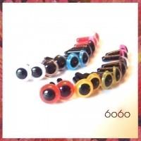 10 Pairs 9mm MIXED COLOR Plastic eyes, Safety eyes, Animal Eyes, Round eyes