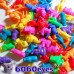 Beads: 4oz (113.4g) Bag of Plastic African Animal Craft Beads