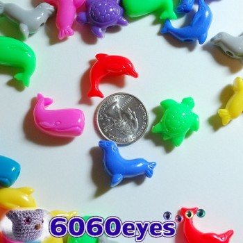 Beads: 4oz (113.4g) Bag of Plastic Sea Life Craft Beads
