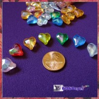 Beads: 144 piece Bag of Acrylic Heart Beads