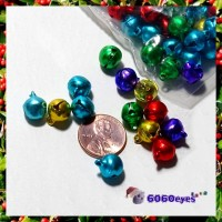 Jingle Bells: 10 mm Jewel Tone Bells 80 Piece Bag