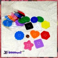 Buttons: Kid's 6oz Large Plastic Button Mix