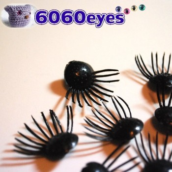 6 PAIRS 14mm Craft Glue-on Puppet Eyelashes