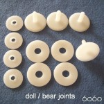 4 Sets 35mm Plastic Doll/Bear Joints