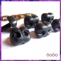 6pcs 15mm BLACK Bear/Dog Plastic noses, Safety noses, Animal Noses