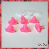 6pcs 18mm PINK Cat-Style Plastic noses, Safety noses, Animal Noses