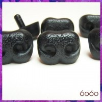 6pcs 30mm BLACK Bear/Dog Plastic noses, Safety noses, Animal Noses