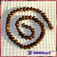 Pearls:16 inch Dark Bronze-colored Potato Pearl String