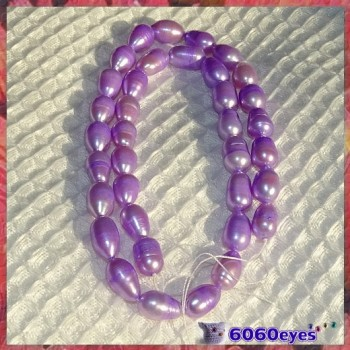 Pearls:16 inch Lavender-colored Potato Pearl String