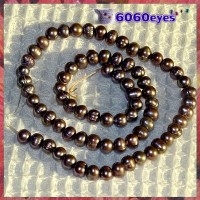 Pearls:16 inch Soft-Violet-colored Potato Pearl String