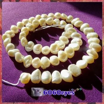 Pearls:16 inch White-colored Potato Pearl String