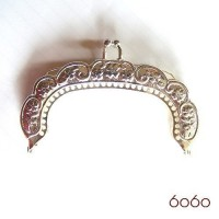 3.5 Inch Silver Colored Metal Purse Frame