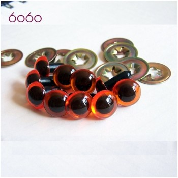 5 PAIRS 9mm Amber Plastic eyes, Safety eyes, Animal Eyes, Round eyes