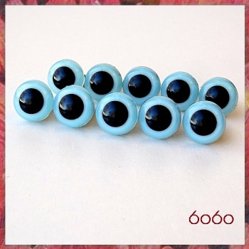 5 PAIRS 10.5mm Light Blue Plastic eyes, Safety eyes, Animal Eyes, Round eyes