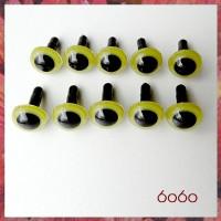 5 PAIRS 10.5mm Olive Green Plastic eyes, Safety eyes, Animal Eyes, Round eyes