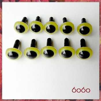 5 PAIRS 10.5mm Olive Green Plastic eyes, Safety eyes, Animal Eyes, Round eyes