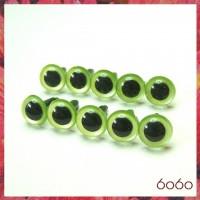 5 PAIRS 10.5mm Pearl Green Plastic eyes, Safety eyes, Animal Eyes, Round eyes