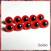5 PAIRS 10.5mm Red Plastic eyes, Safety eyes, Animal Eyes, Round eyes