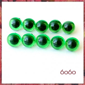 5 PAIRS 10.5mm Transparent Green Plastic eyes, Safety eyes, Animal Eyes, Round eyes