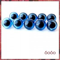 5 PAIRS 10.5mm Transparent Blue Plastic eyes, Safety eyes, Animal Eyes, Round eyes