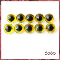 5 PAIRS 10.5mm Transparent Yellow Plastic eyes, Safety eyes, Animal Eyes, Round eyes