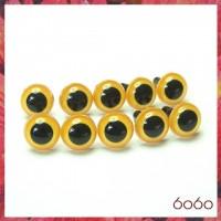 5 PAIRS 10.5mm Yellow Plastic eyes, Safety eyes, Animal Eyes, Round eyes
