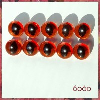 5 PAIRS 12mm Transparent Amber Cat eyes, Safety eyes, Animal Eyes, Round eyes