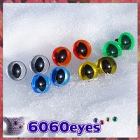 5 PAIRS 12mm Mixed Transparent Colors Plastic Cat eyes, Safety eyes, Animal Eyes, Round eyes