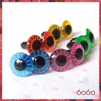 4 PAIRS 12mm Mixed Colors Plastic Owl eyes, Safety eyes, Animal Eyes, Round eyes