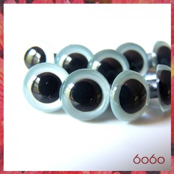 5 PAIRS 12mm Pearl Blue Plastic eyes, Safety eyes, Animal Eyes, Round eyes