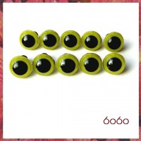 5 PAIRS 12mm Olive Green Plastic eyes, Safety eyes, Animal Eyes, Round eyes