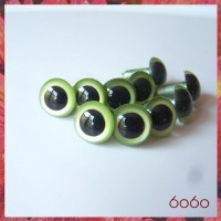 5 PAIRS 12mm Pearl Green Plastic eyes, Safety eyes, Animal Eyes, Round eyes