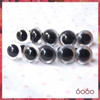 5 PAIRS 12mm Clear Plastic eyes, Safety eyes, Animal Eyes, Round eyes