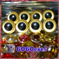 4 PAIRS 13.5mm Gold Plastic eyes, Safety eyes, Animal Eyes, Round eyes