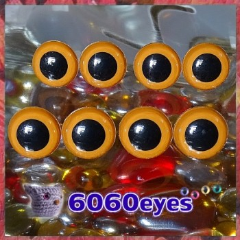 4 PAIRS 13.5mm Light BROWN Plastic eyes, Safety eyes, Animal Eyes, Round eyes