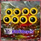 4 PAIRS 13.5mm Mango YELLOW Plastic eyes, Safety eyes, Animal Eyes, Round eyes