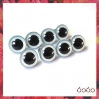 4 PAIRS 13.5mm Pearl Blue Plastic eyes, Safety eyes, Animal Eyes, Round eyes