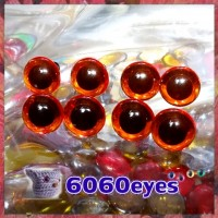 4 PAIRS 13.5mm Transparent RED Plastic eyes, Safety eyes, Animal Eyes, Round eyes