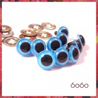 5 PAIRS 15mm Blue Plastic eyes, Safety eyes, Animal Eyes, Round eyes