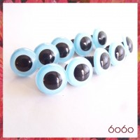 5 PAIRS 15mm Light Blue Plastic eyes, Safety eyes, Animal Eyes, Round eyes