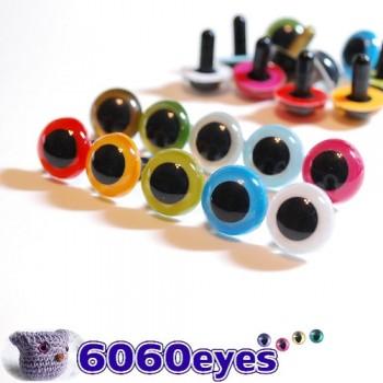 10 PAIRS 15mm Mixed Colors Plastic eyes, Safety eyes, Animal Eyes, Round eyes