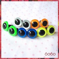 5 PAIRS 15mm Neon / Mixed Colors Plastic eyes, Safety eyes, Animal Eyes, Round eyes