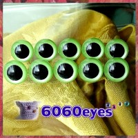 5 PAIRS 15mm Pearl Green Plastic eyes, Safety eyes, Animal Eyes, Round eyes