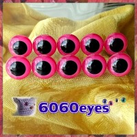 5 PAIRS 15mm Pink eyes, Safety eyes, Animal Eyes, Round eyes