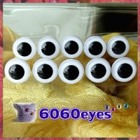5 PAIRS 15mm White eyes, Safety eyes, Animal Eyes, Round eyes