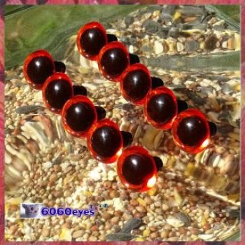 5 PAIRS 16.5mm Amber Plastic eyes, Safety eyes, Animal Eyes, Round eyes