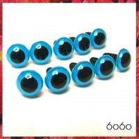 5 PAIRS 16.5mm Blue Plastic eyes, Safety eyes, Animal Eyes, Round eyes