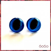 5 PAIRS 18mm Blue Plastic Cat eyes, Safety eyes, Animal Eyes, Round eyes