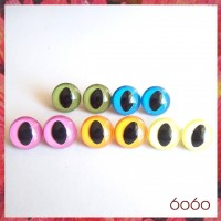 5 PAIRS 18mm Mixed Color Plastic Cat eyes, Safety eyes, Animal Eyes, Round eyes