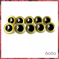 5 PAIRS 18mm Gold Plastic eyes, Safety eyes, Animal Eyes, Round eyes